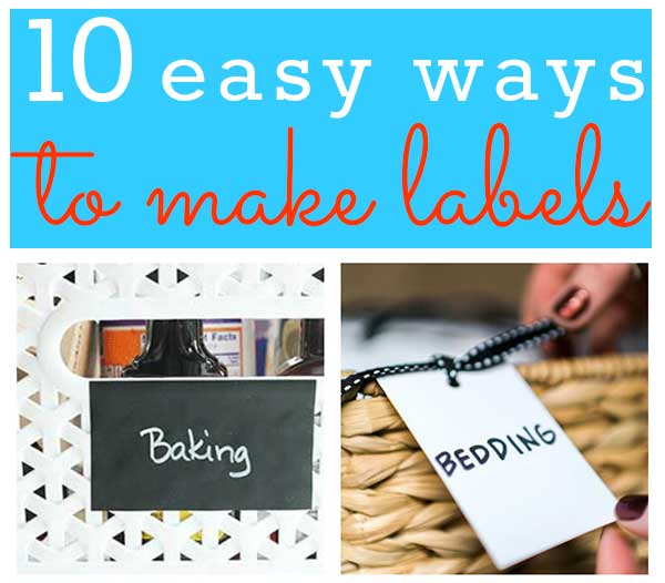 10 easy ways to make labels
