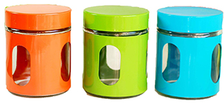 Colorful Kitchen Canisters (Amazon) ...