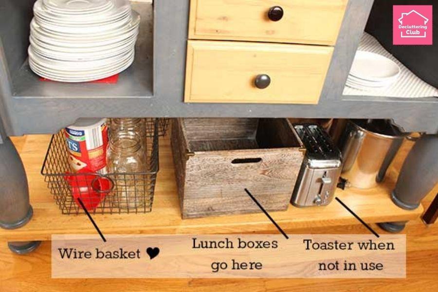 organized kitchen storage bins