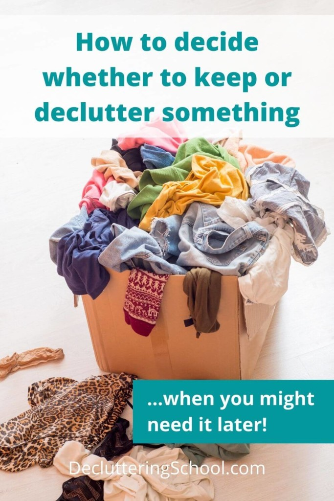 When decluttering, how do you decide what to keep and what to toss? Is it wasteful to declutter things that are still useful? Get some simple decluttering tips and advice on how to decide if something is clutter or not. Plus, grab a free printable mega list of where to dispose of the clutter you're discarding.