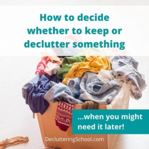 make decluttering decisions cover