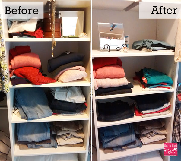 Declutter, closet, Sarah Mueller, Early Bird Mom