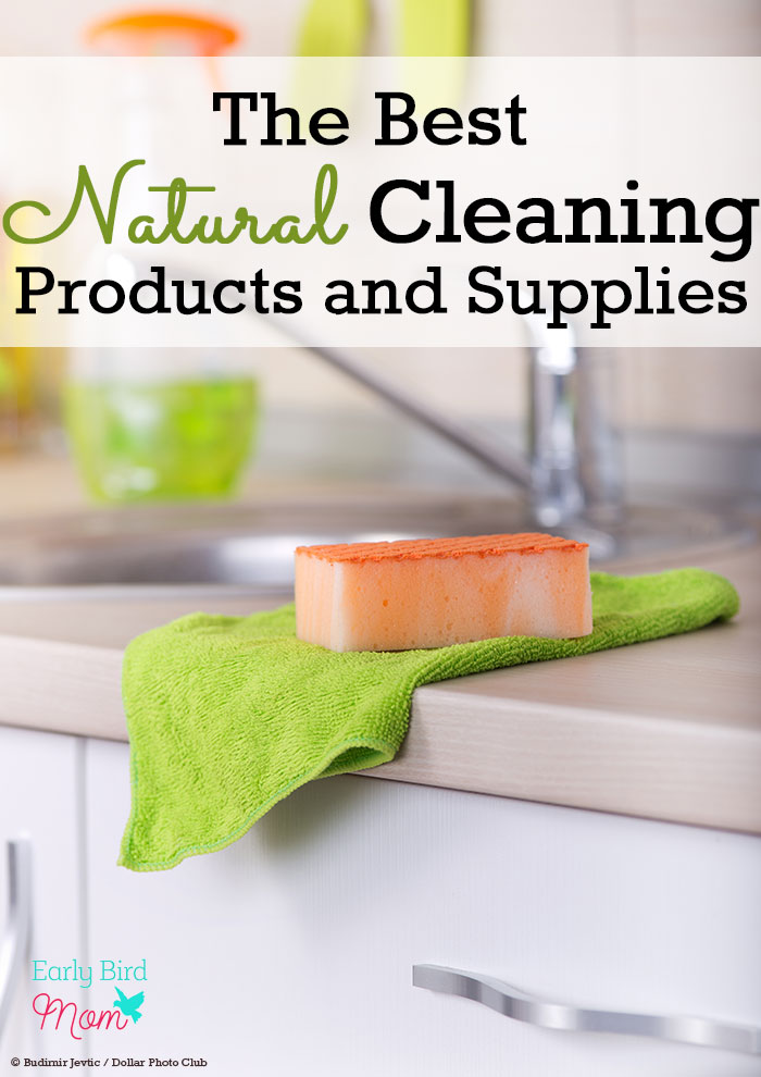 A helpful list of all natural cleaning products and supplies to keep your home non-toxic and chemical free and save you time and money on cleaning!