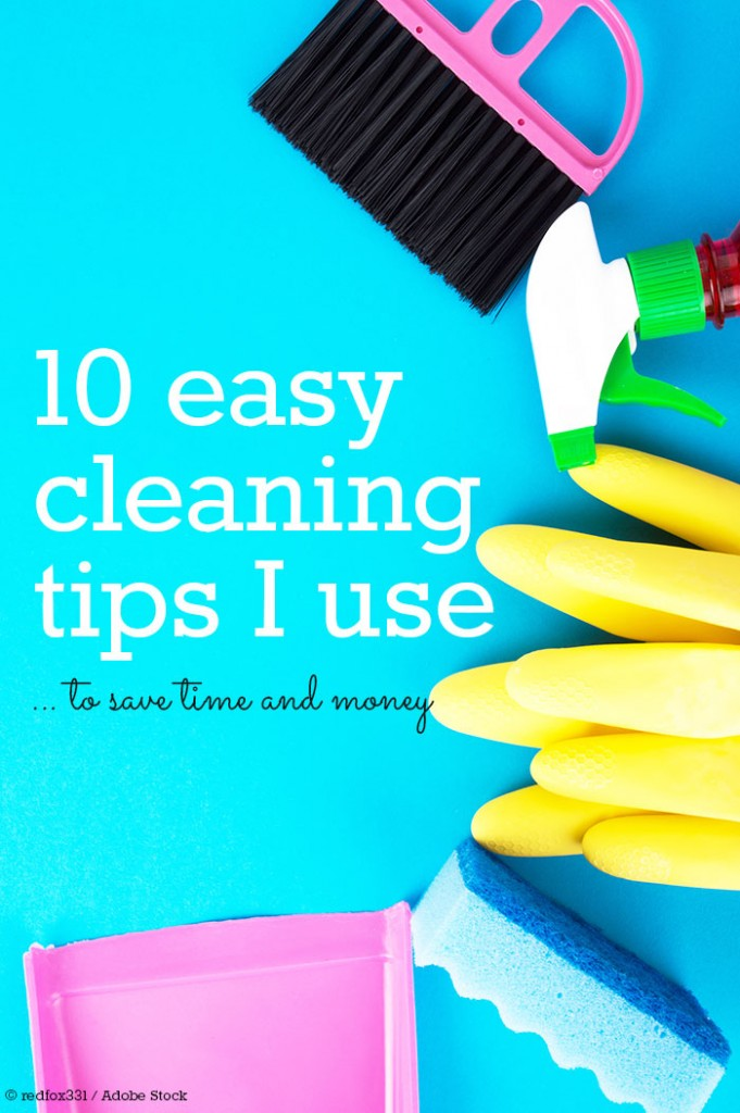 These easy cleaning tips may not change your life, but they will save time and money on cleaning your home! Because no one wants to clean the kitchen or the bathroom all day long :)