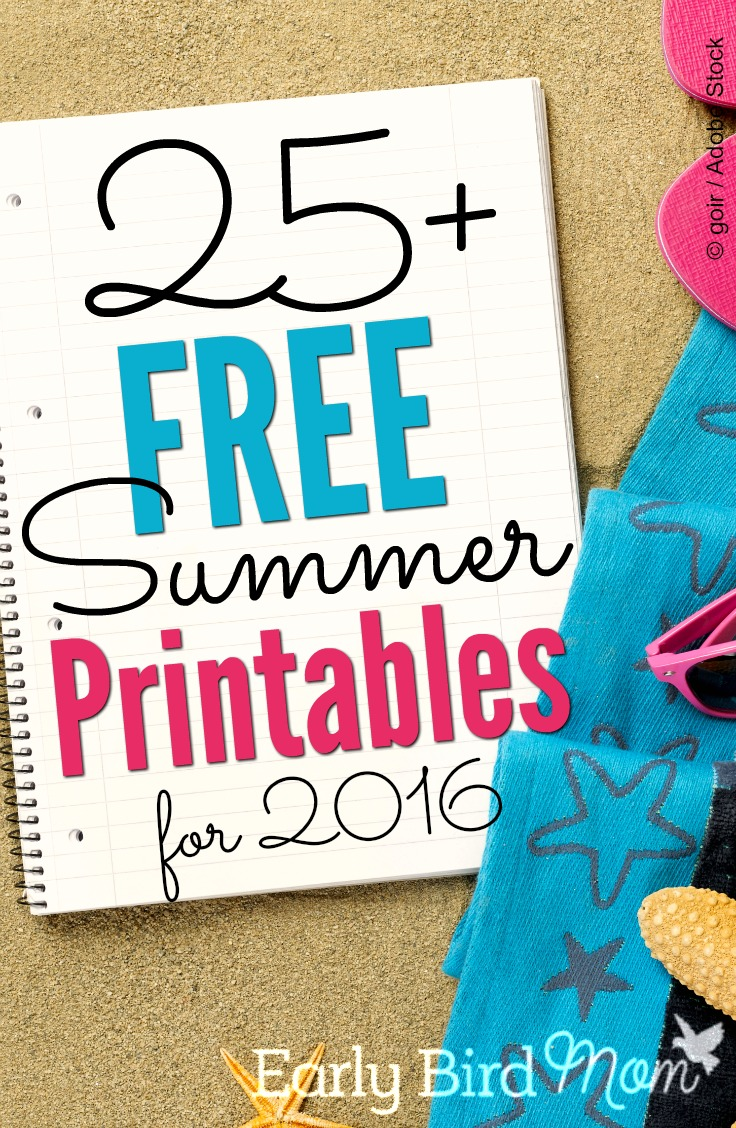 Get ready for summer fun with these 21+ free printables and checklists. Don't let summer pass you by without doing all those things you want to get to! Stay organized, have less stress and get more done with a summer-themed printable to track your bucket list, your kids summer reading list, your calendar, packing list, and lots more!