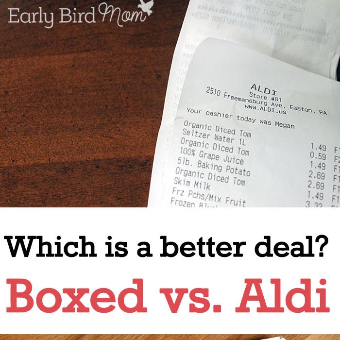 Which is a better deal? A Boxed vs. ALDI comparison