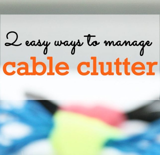 managing cable clutter
