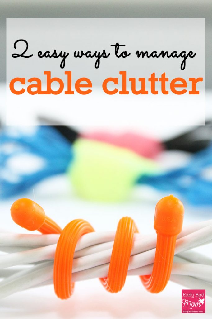I LOVE this simple idea to keep all the messy cord clutter under control. These cord and cable management ideas work at your desk, in your purse or in the kitchen.