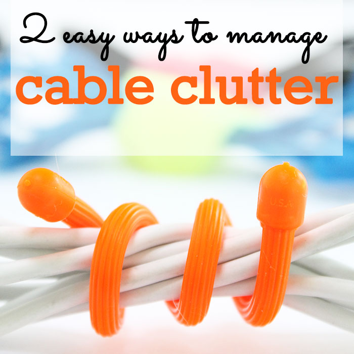 2 easy ways to manage cable clutter