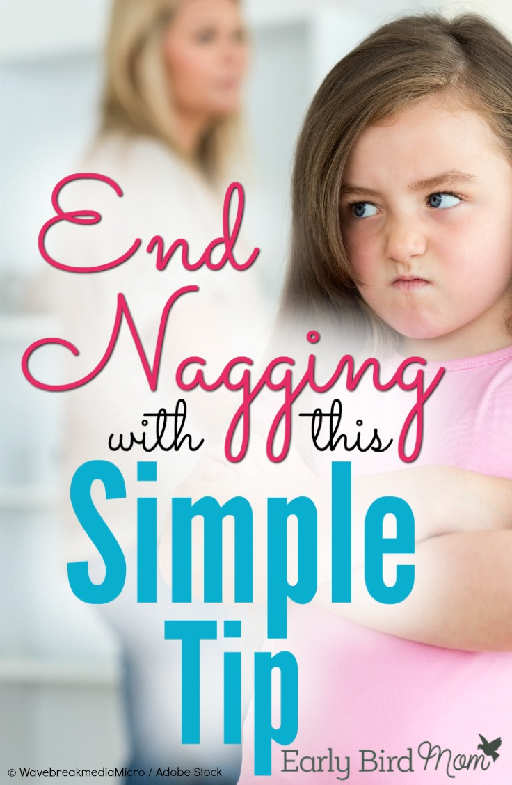 If you feel like you have to nag to get your kids to listen to you, you'll love this simple tip! Stop the nagging for good and help your kids become more responsible in the process.