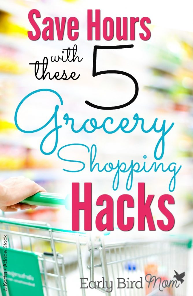 If grocery shopping for your family takes you way too much time, these simple grocery hacks for families can help. Save time (and money!) by making some easy changes to your shopping routine.