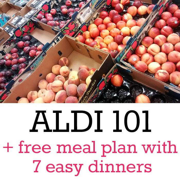 ALDI 101 (with free simple meal plan download!)