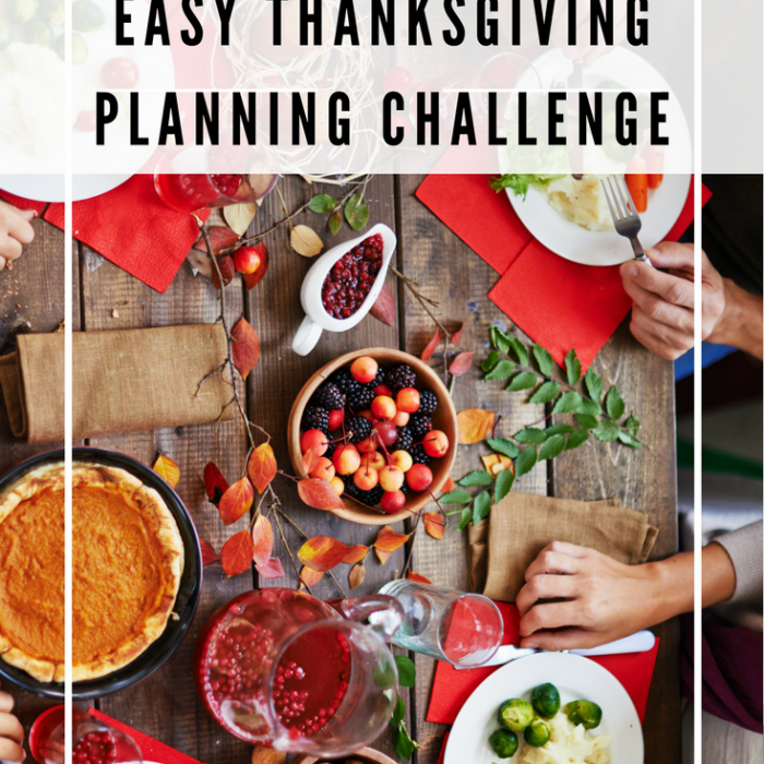 Easy Thanksgiving Planning Challenge