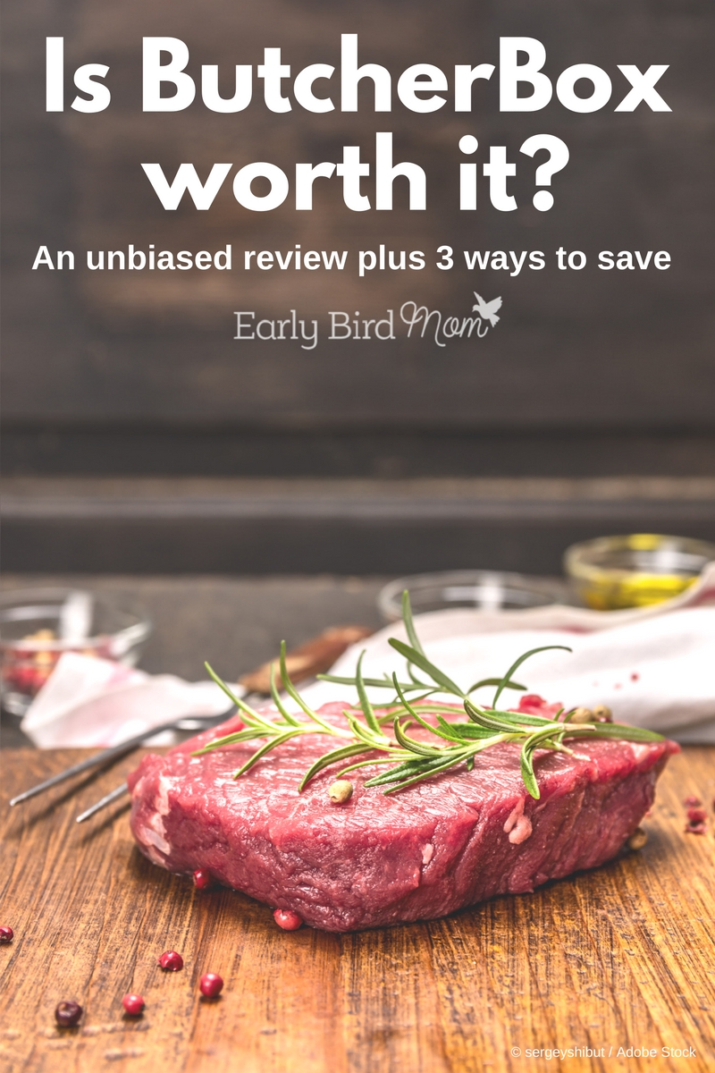 Considering a ButcherBox subscription for grass fed beef, organic chicken and pork? In my unbiased review, I share pros and cons and Butcher Box coupons and discounts.