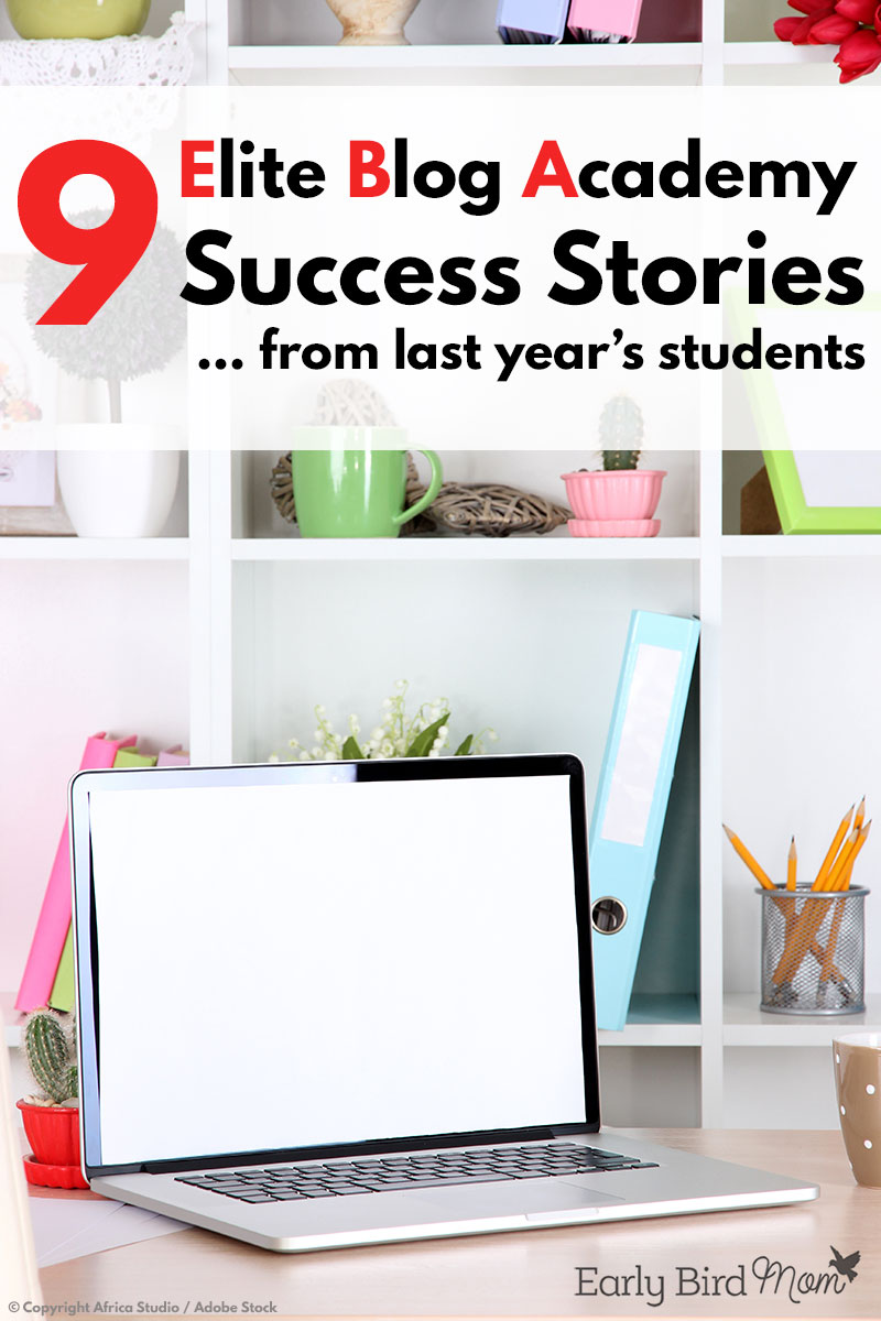Find out what kind of inspiring success these 9 bloggers are seeing after just 12 months as part of Elite Blog Academy!