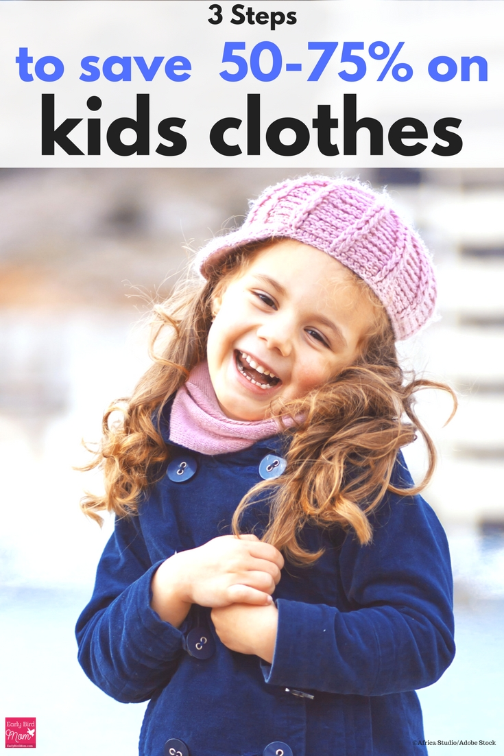 If buying kids clothing is hurting your wallet, try this 3 step strategy to saving big.