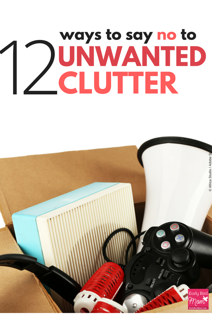 "Decluttering is hard enough without other people adding to the things in your home. Here are 12 easy and gracious ways to say ""thanks but no thanks"" and keep the clutter away."