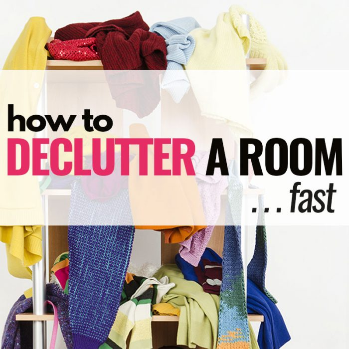 How to declutter a room in a hurry (free printable!)