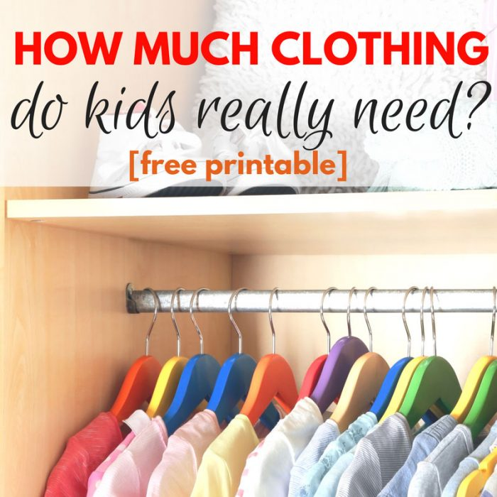 How much clothing do kids really need?