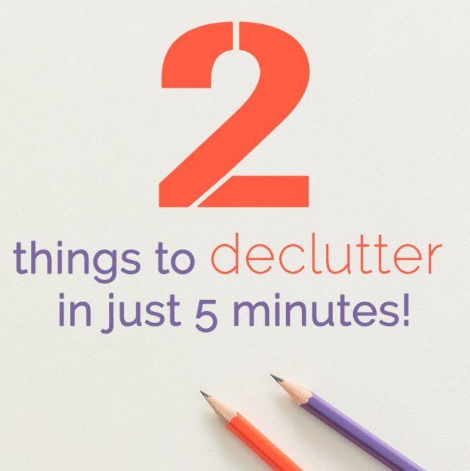 5 minute decluttering