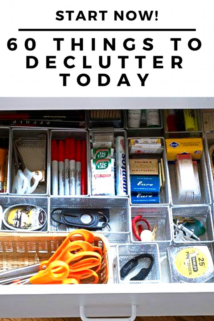 If you need to declutter, sometimes, it's easiest to grab a box or a trash bag and start tossing!