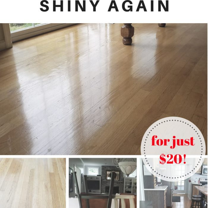 How to make your wood floors shiny again (for just $20)