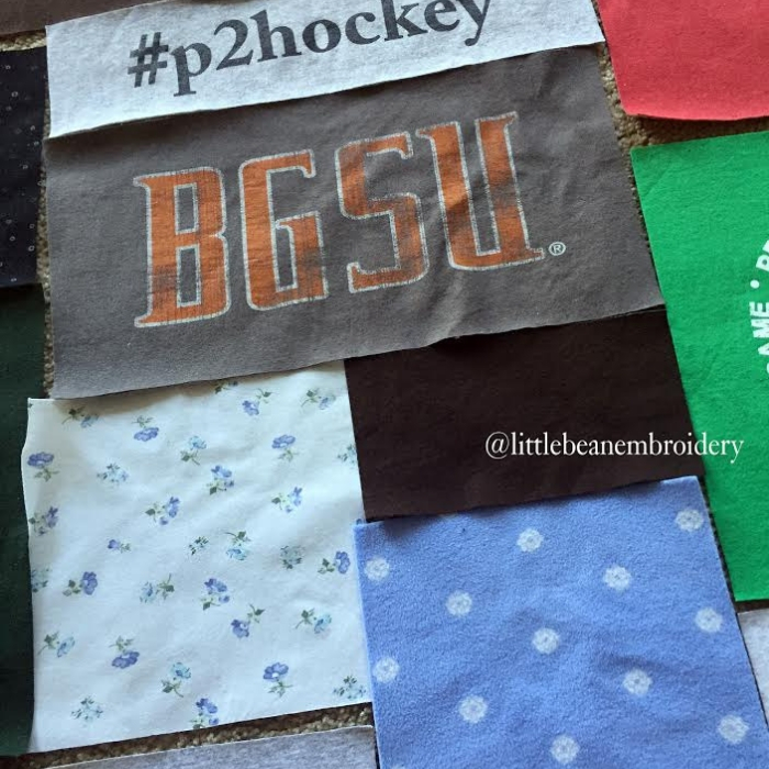 T-Shirt-Quilt being worked on