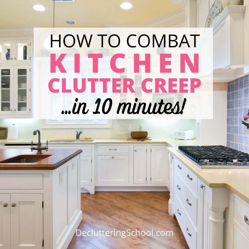 combat kitchen clutter creep cover