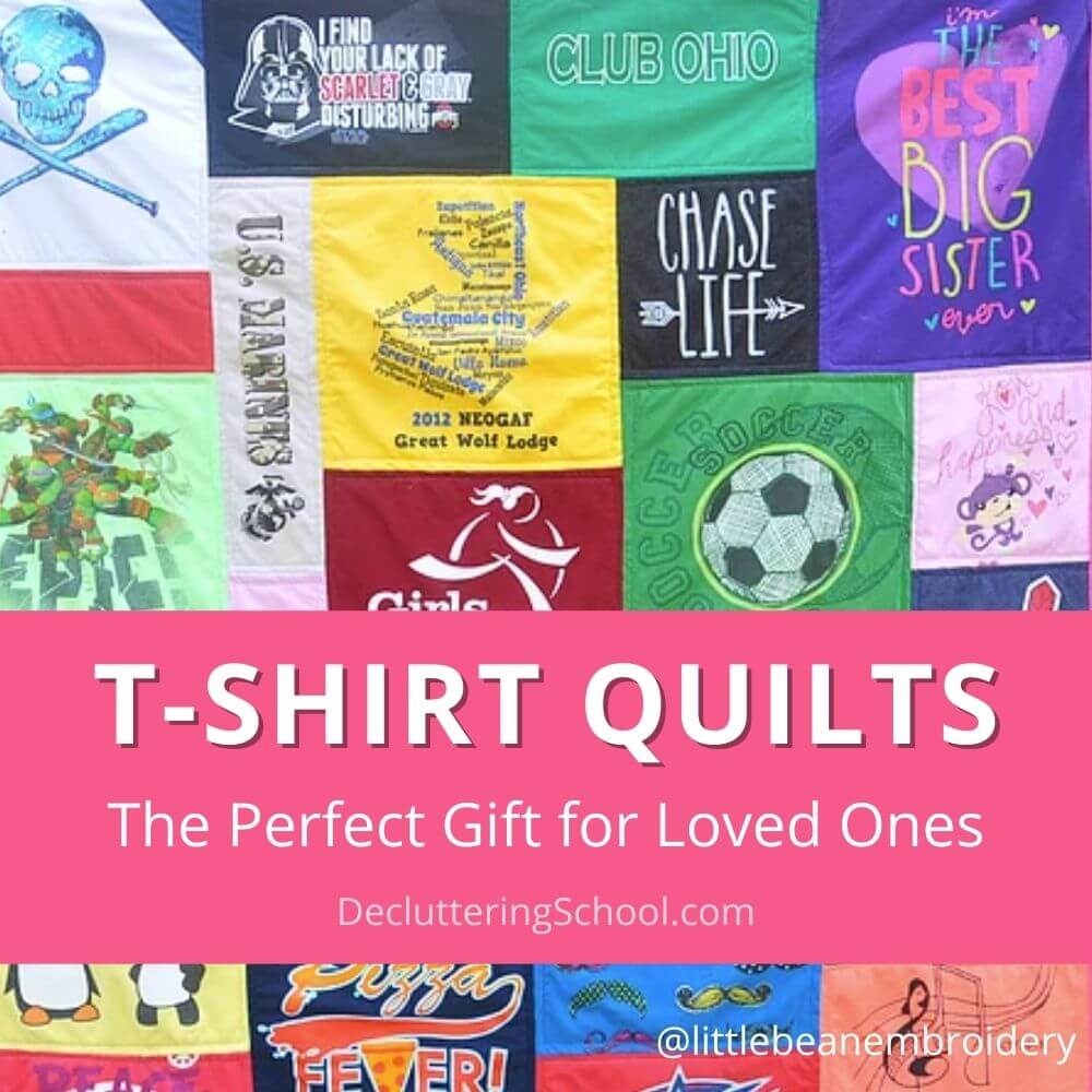 make t-shirt quilts cover