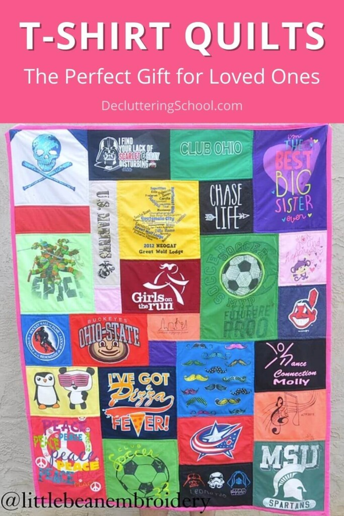 t-shirt quilts declutter your drawers and make perfect gifts