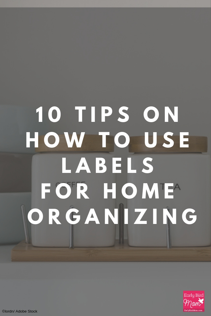 tips on how to create labels for home organzing
