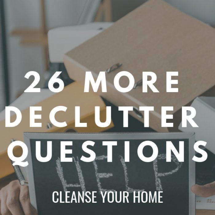 declutter questions