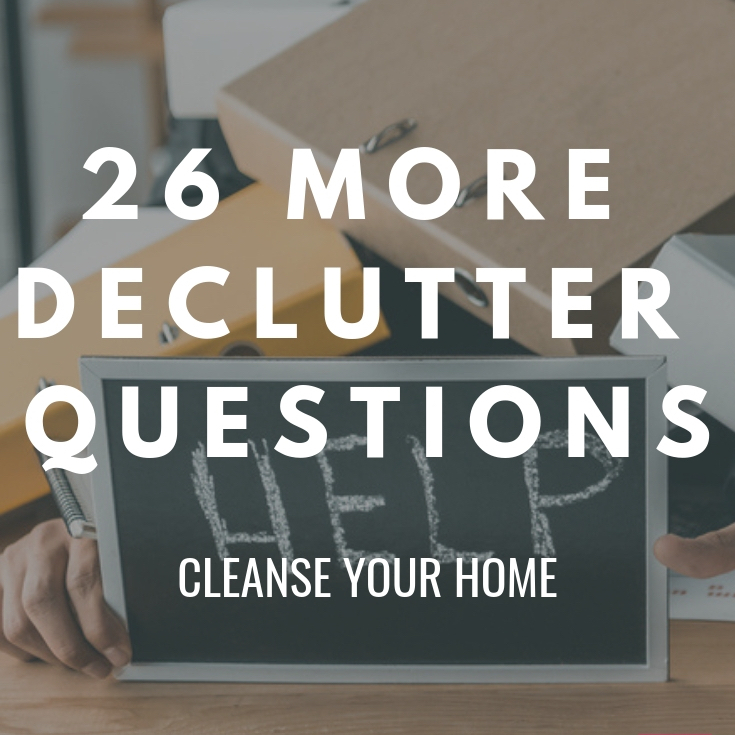 decluttering questions to ask