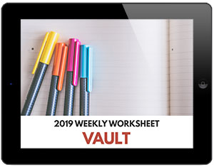 Weekly Worksheet Vault