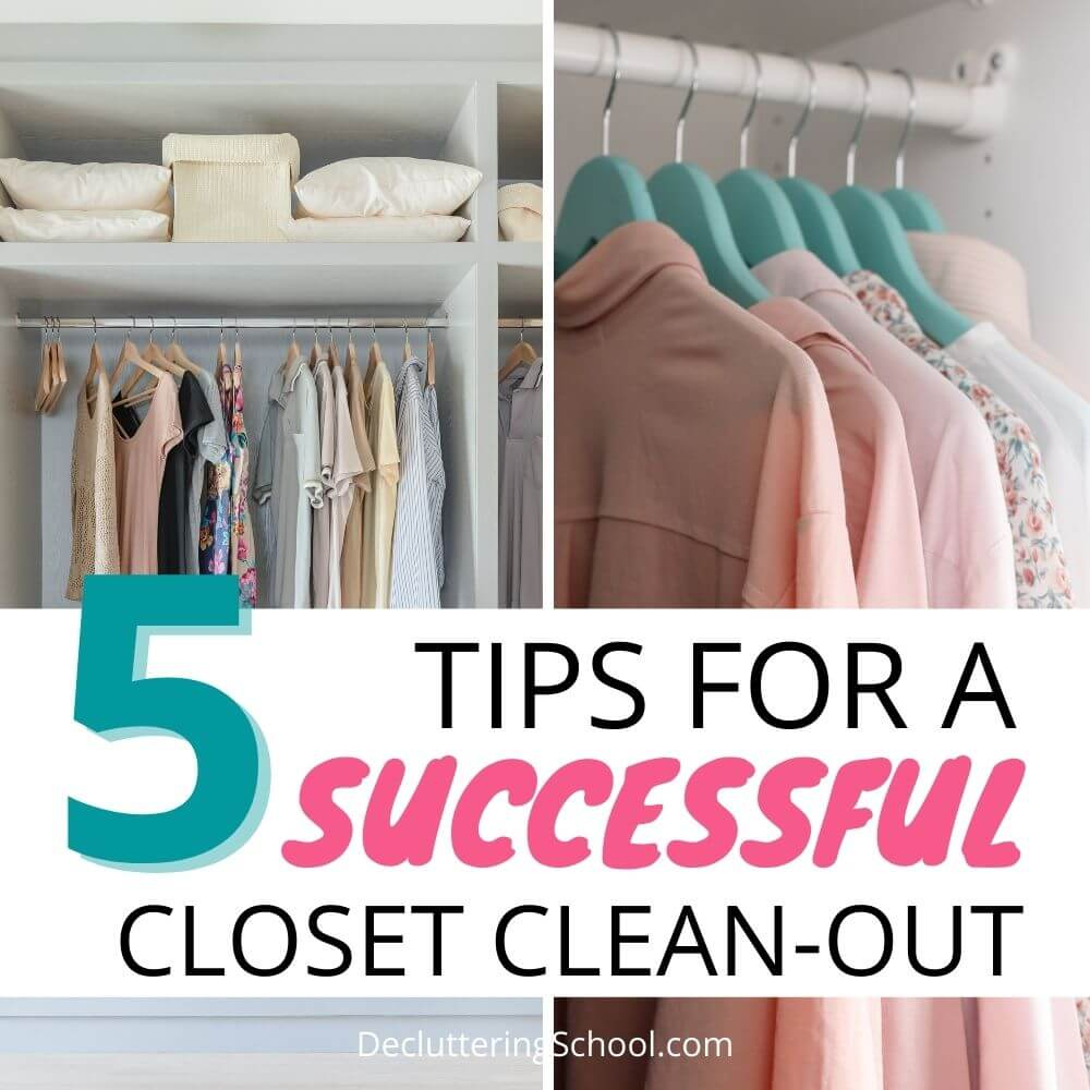 tips for successful closet clean-out cover