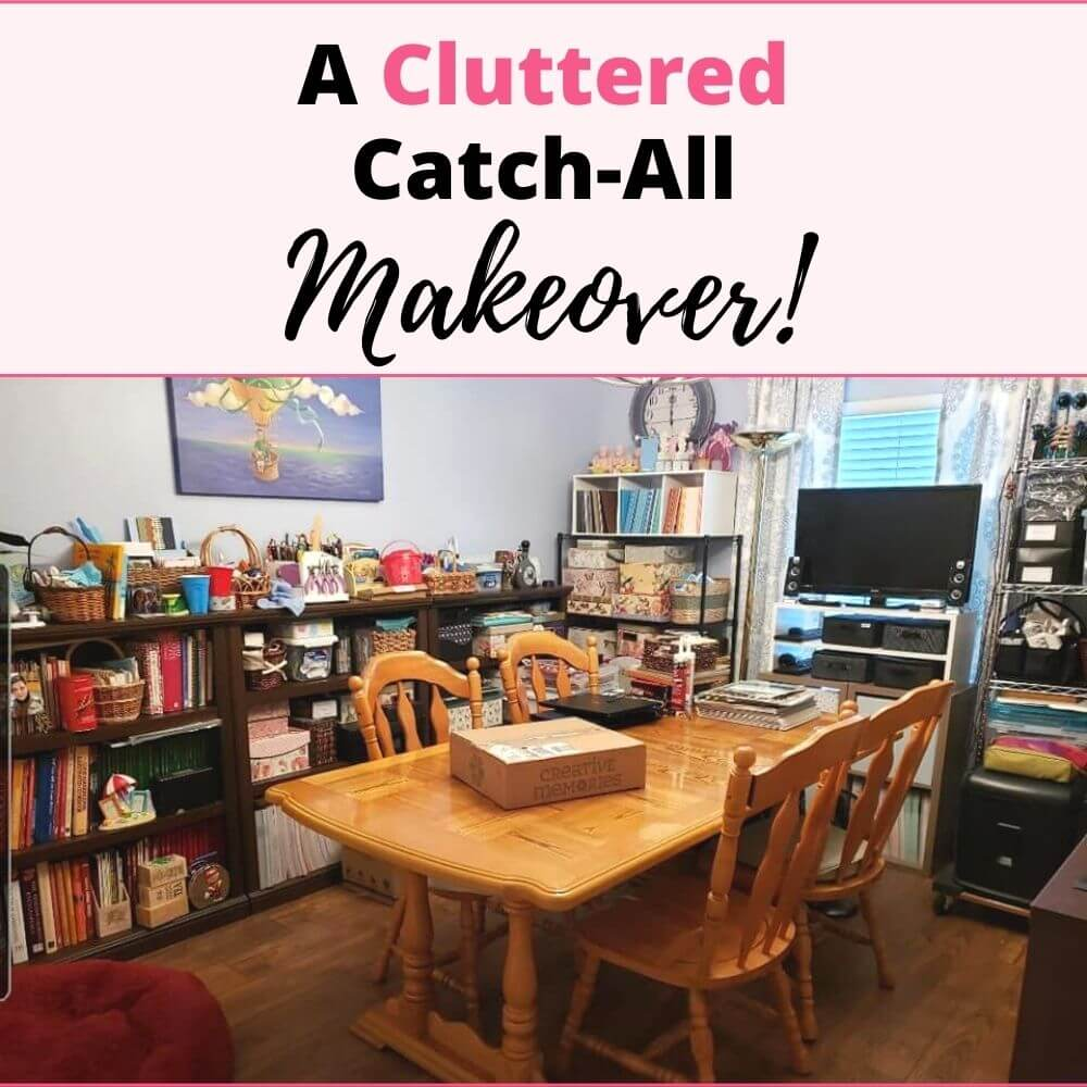 cluttered catchall makeover cover
