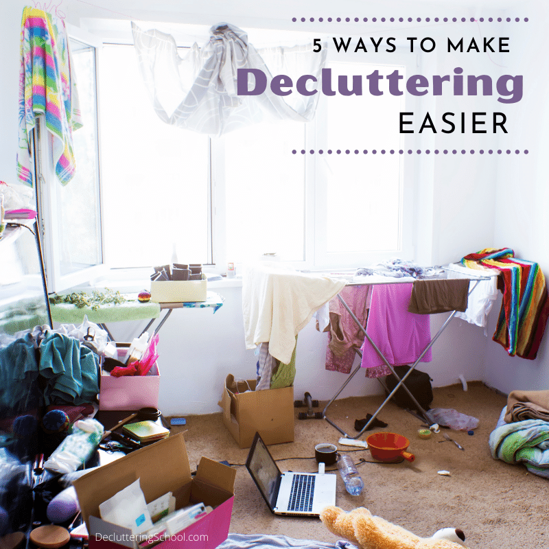 make decluttering easier with these 5 simple, helpful tips