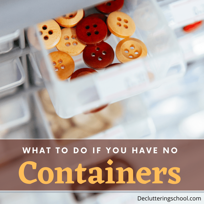 budget friendly organizing containers ideas