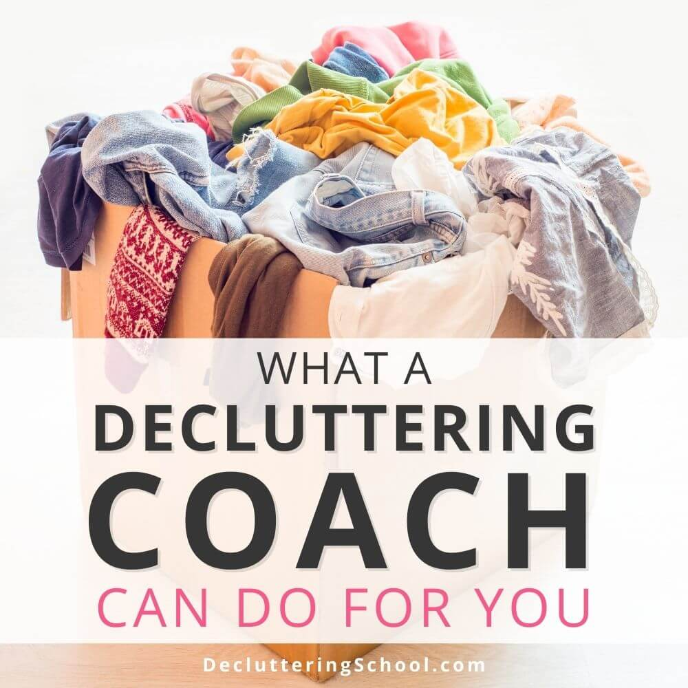 decluttering coach helps cover