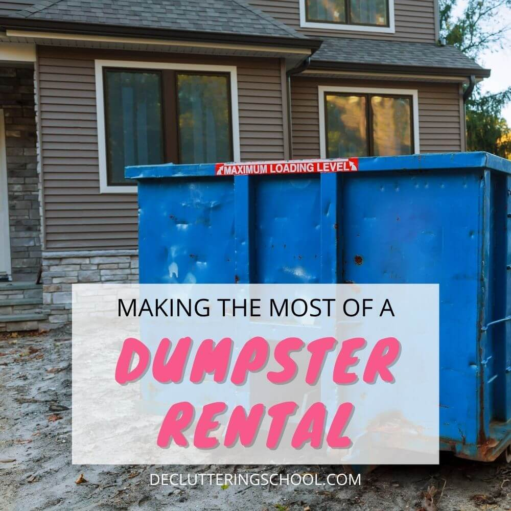 how to make the most of dumpster rental cover