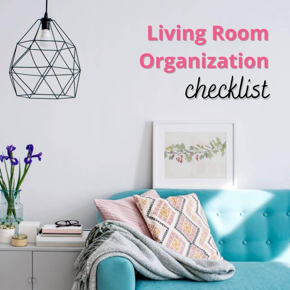 living room organization checklist cover