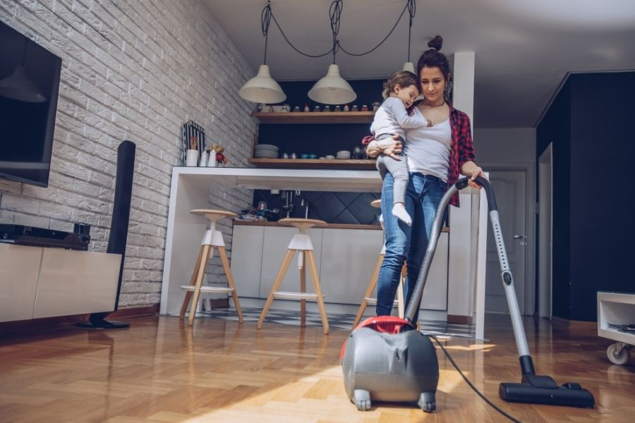 roomba helps when you have kids