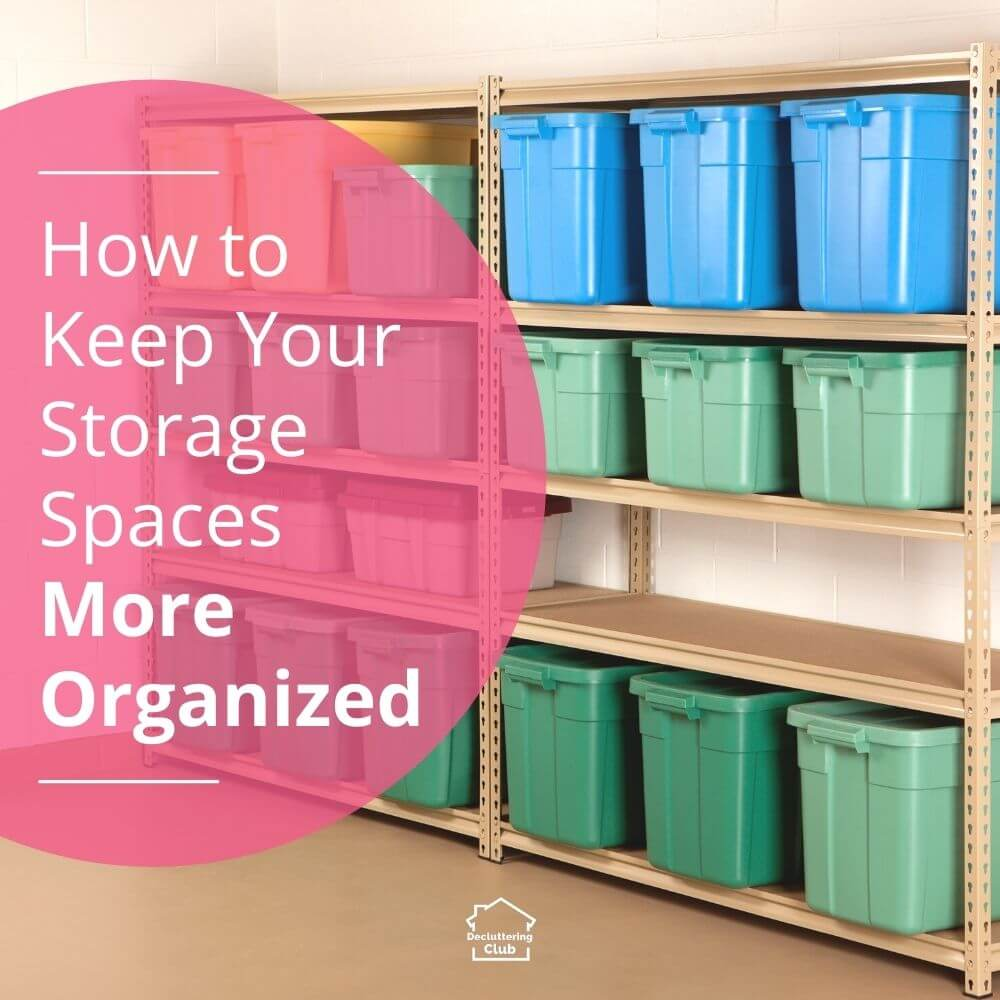 Organizing your home storage spaces, like attics, basements, closets and garages, comes down to some simple tips and tricks!
