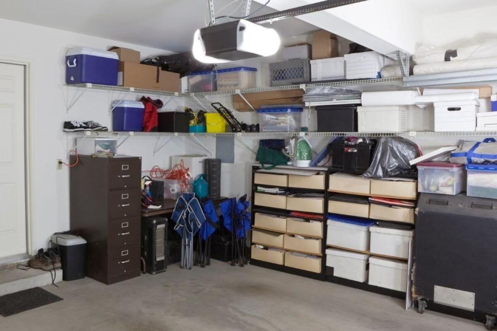 vertical storage keeps storage spaces organized