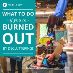 decluttering burnout cover
