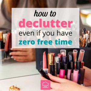 how to declutter when no time cover