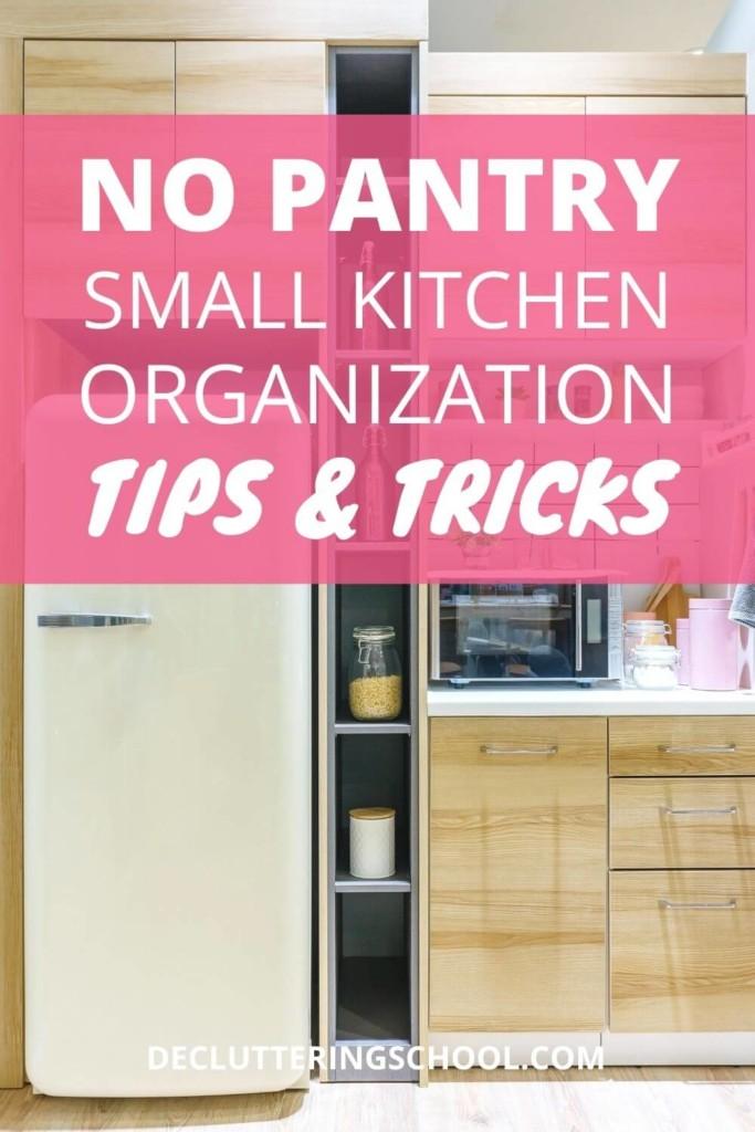 no pantry kitchen organization