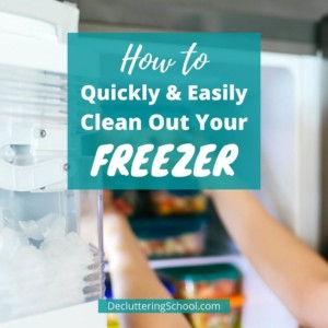 quickly clean freezer without turning off cover